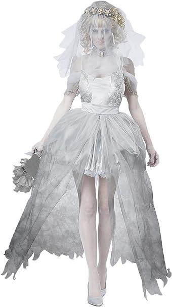Costume SPOSA FANTASMA M 38-40 Zombie Sposa Travestimento Donna Costume SPOSA ZOMBIE
