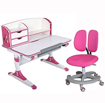 Remarkable Kids Study Desk And Chair Set Height Adjustable Children Ergonomic Desk Adult Computer Desk Suit Age 5 Adult 1Se80C Pink 1Se80D Pink 1So5 Gmtry Best Dining Table And Chair Ideas Images Gmtryco