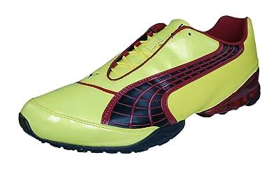 74c239b0a50 PUMA V1.10 Viz Trainer Mens Astro Turf Soccer Sneakers Boots-Yellow-