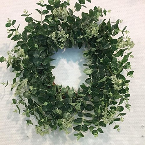The Great Imposter Artificial Faux Eucalyptus Wreath Front Door Interior Home Décor