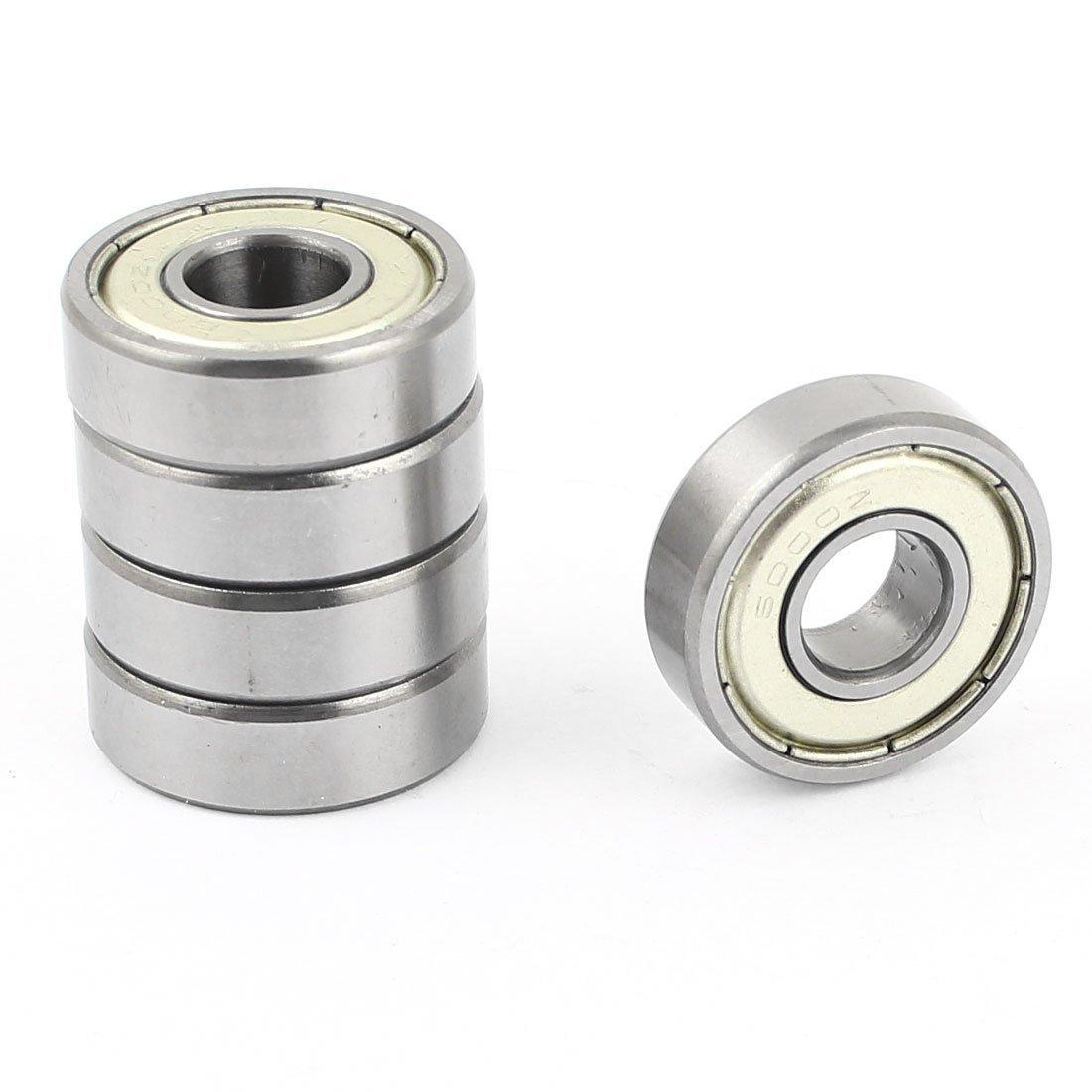 Sourcingmap - 5 pc 20009 doble metá lico protegido rodamientos rí gidos de bolas 10x26x8mm a14091500ux0318