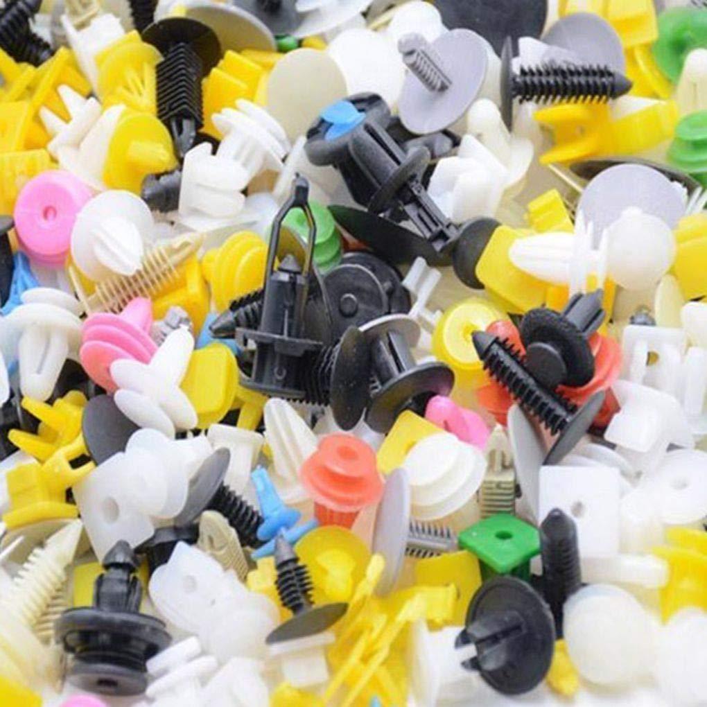 PRENKIN 200Pcs Caso di miscelazione Clip Universal Car Fender paraurti in plastica Arredamento Auto Plastic Fastener