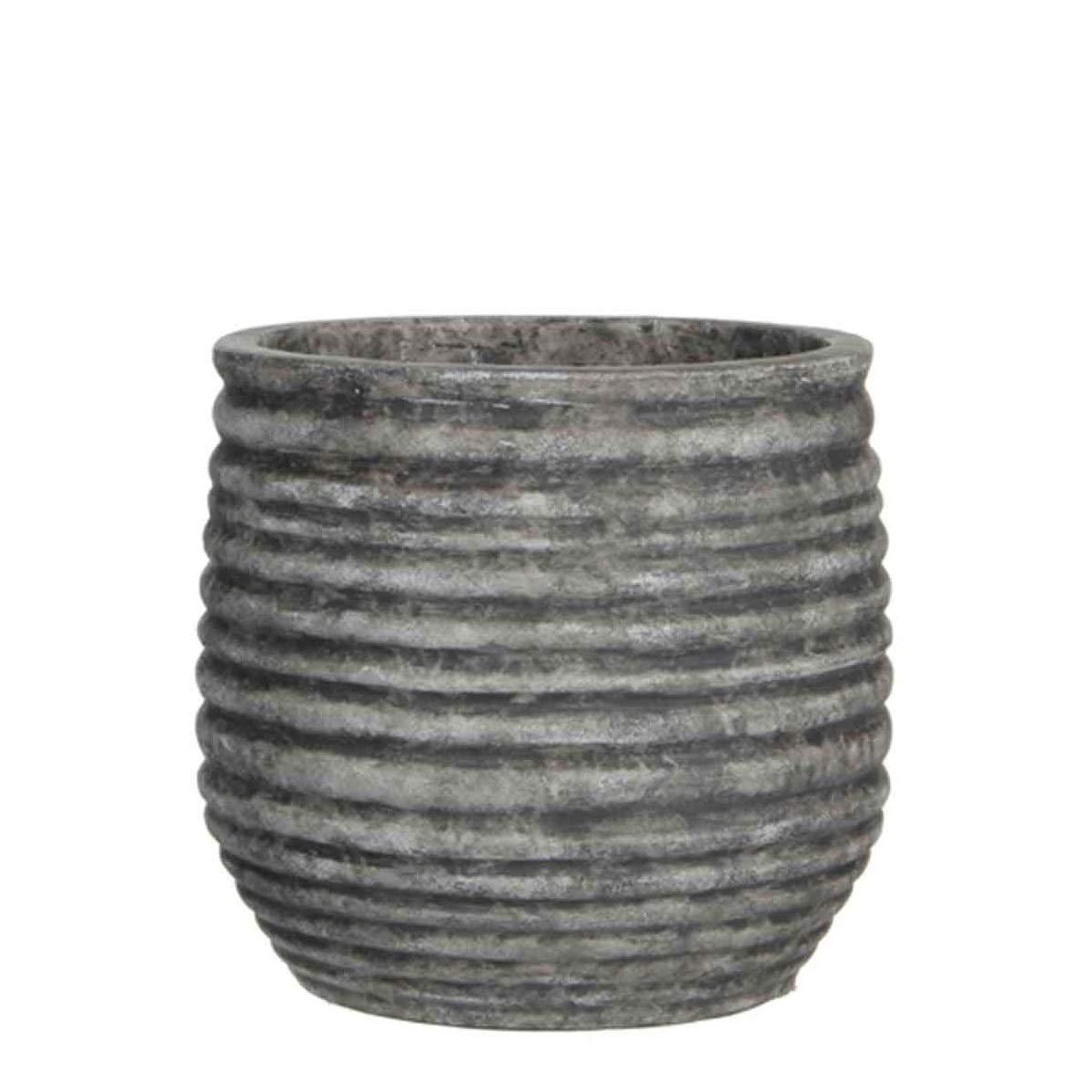 MICA Decorations Magnus - Vaso rossoondo per Piante, in Terracotta