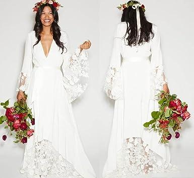 Dressesonline Women\'s Winter Bohemian Wedding Dresses Bridal Gowns ...