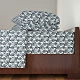 Roostery Film Noir 4pc Sheet Set Chasing Shadows by Inscribed Here Queen Sheet Set made with