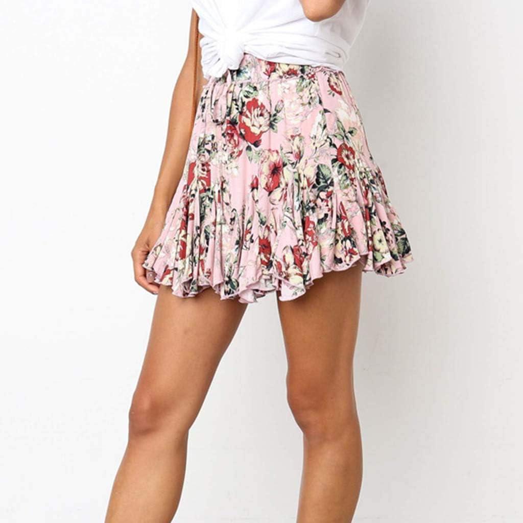 Falda Mujer Desigual Corta Falda Estampada Mujer A-Line: Amazon.es ...