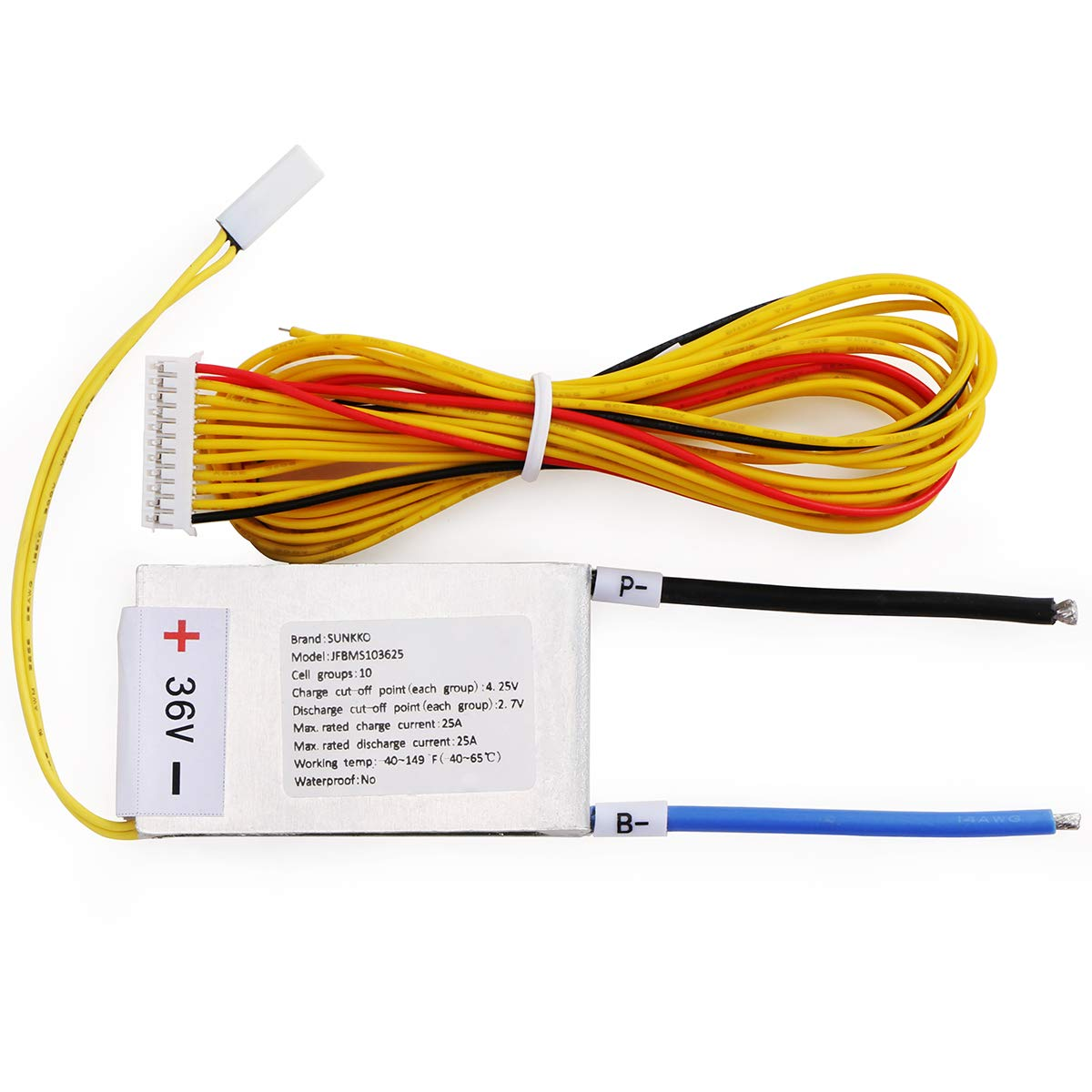 36V 10s Battery Management System(BMS) with 25A Change/Discharge Current, DIY Lithium Battery Pack