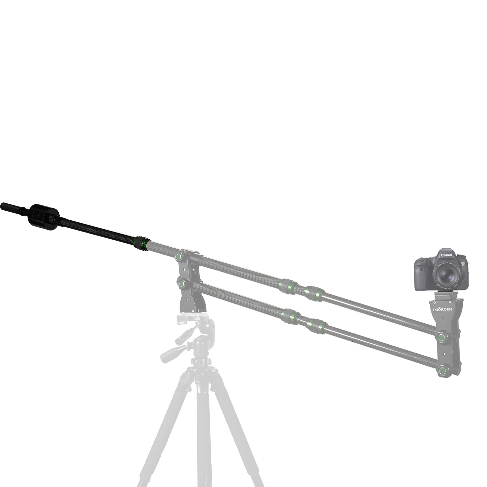 IMORDEN Carbon Fiber Tail Rod with 1kg/2.2lbs Counterweight Balance Weight x3 for Mini Jib Arm Camera Crane