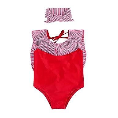 Bañadores Bebé Niñas Lonshell Bikini de Rayas Conjunto de ...