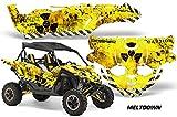 2015+ Yamaha YXZ 1000R AMRRACING UTV Graphics Decal Kit - Meltdown - Black-Yellow