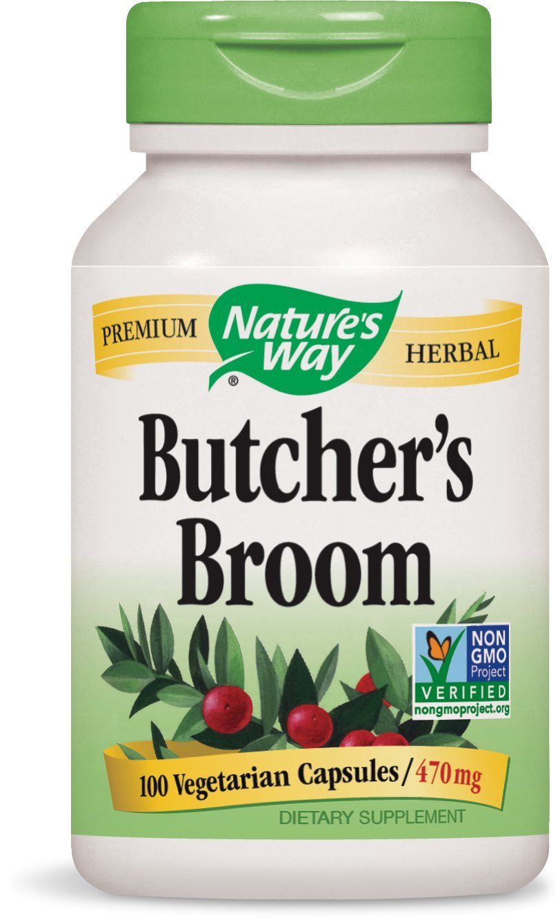 Nature's Way Butcher's Broom 470 mg, 100 Vcaps, 100 Count