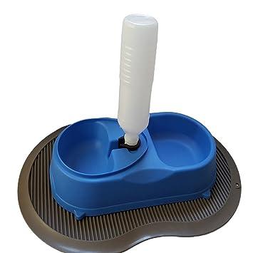 Pet Alfombrilla, incluye un dispensador de gravedad para opcional de alimentación de estación de alimentación
