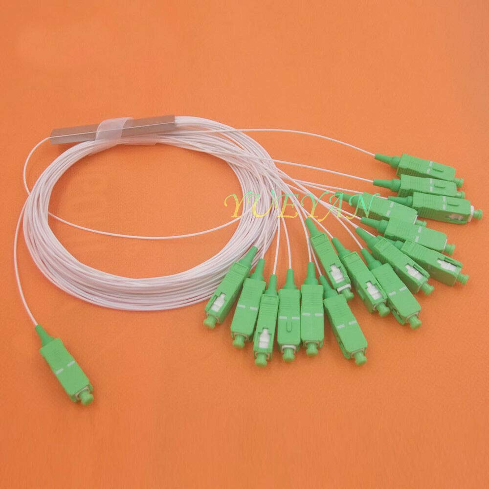 FidgetGear 10pcs 0.9mm 1x16 Differential Mini SC/APC Connector Fiber Optic PLC Splitter   B07PNG6GFK