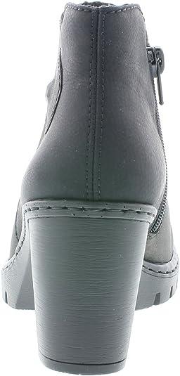 Rieker Stiefeletten Y2582 45 grau Damenstiefel & Stiefeletten