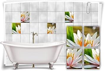 Medianlux Fliesenaufkleber Fliesenbild Seerose Blumen Deko Wellness ...