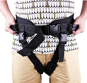Transfer Belt Gait Belt with Leg Loops for Patients Safety Elderly Care, Medical Nursing Safety Belts with Handles for Patient Lifting, Walking and Standing Easily