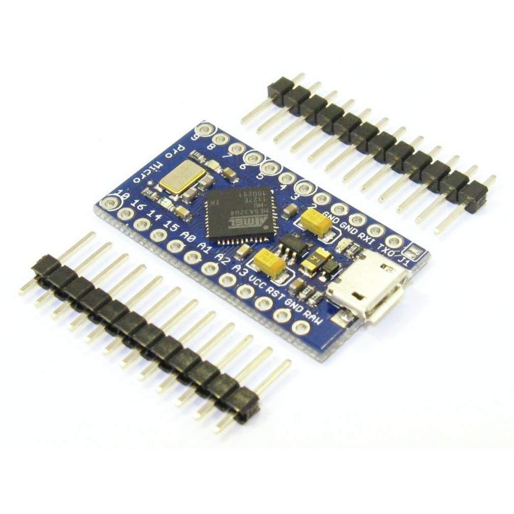 FTCBlock Pro Micro ATmega32U4 5V//16MHz Module Board with 2 Row pin Header for arduino Leonardo Replace ATmega328 Pro Mini 3pcs