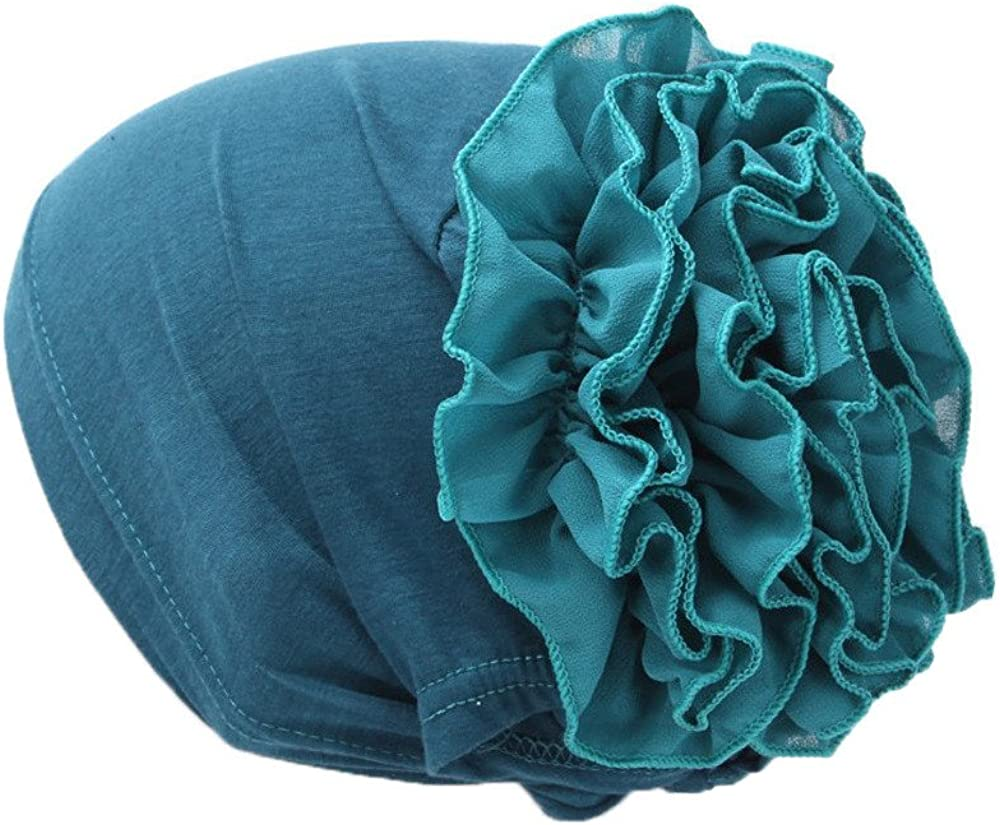 GREFER Hats Flower Ruffle...
