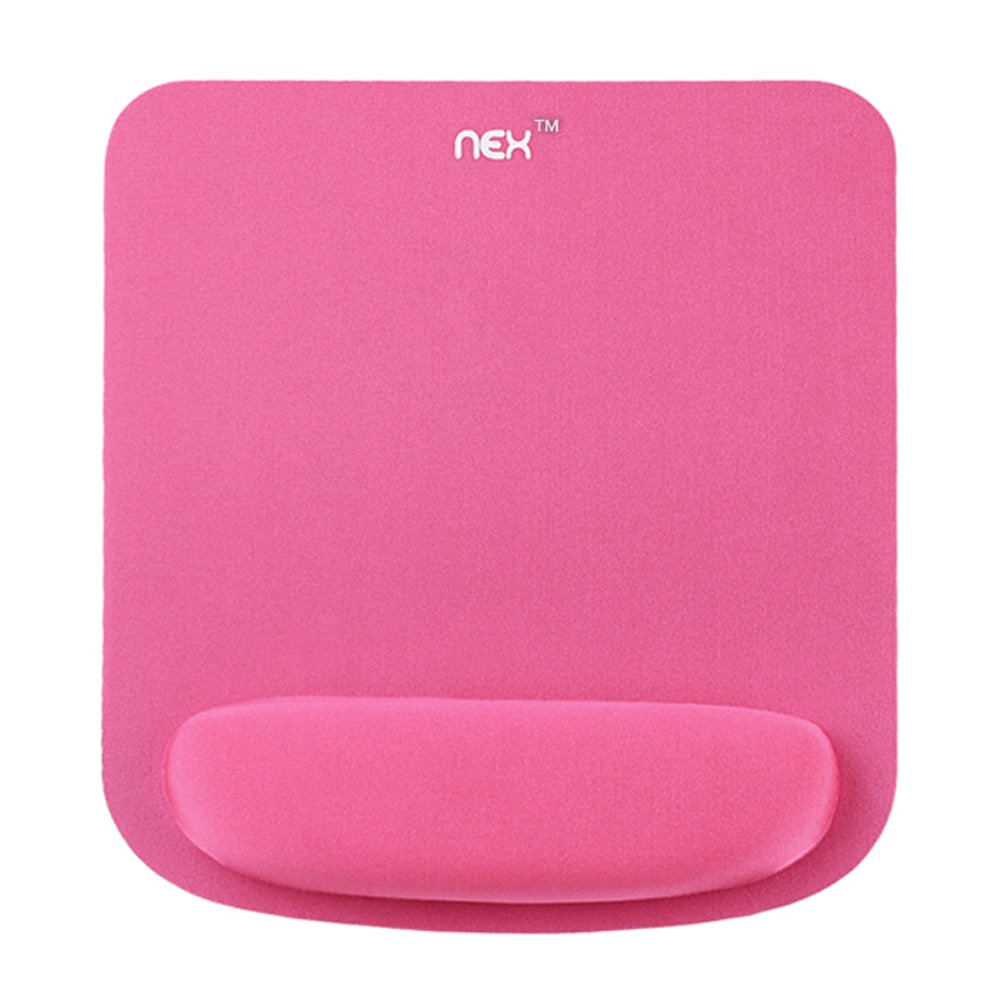 Pink NEX Mouse Pad with Keyboard Wrist Rest Pad Kit Comfortably Made of Memory Foam