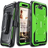 #9: LG X Power 2 / Fiesta 2 / X Charge / Fiesta LTE / K10 Power Case, COVRWARE [Aegis Series] w/ Built-in [Screen Protector] Heavy Duty Full-Body Rugged Holster Armor Case [Belt Clip][Kickstand], Red