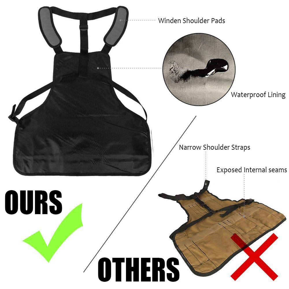 Garden Pottery Craft Workshop Garage HAPPYX Tool Apron Heavy Duty Waxed Canvas Work Aprons Unisex for Kitchen