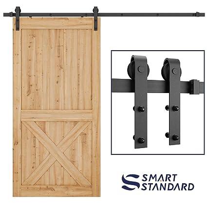 Smartstandard 8 Ft Heavy Duty Sturdy Sliding Barn Door Hardware Kit