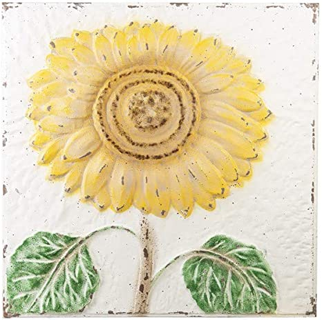 Amazon Com Ganz Cb174036 Embossed Sunflower Wall Decor 24 Inch Height Metal Home Kitchen