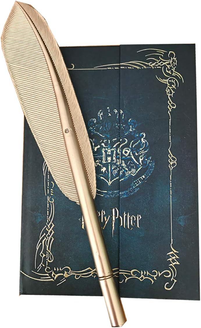 Juego de agenda vintage y bolígrafo de plumas, diario, cuaderno, agenda con bolígrafo Hogwarts para fans de Harry Potter, regalos
