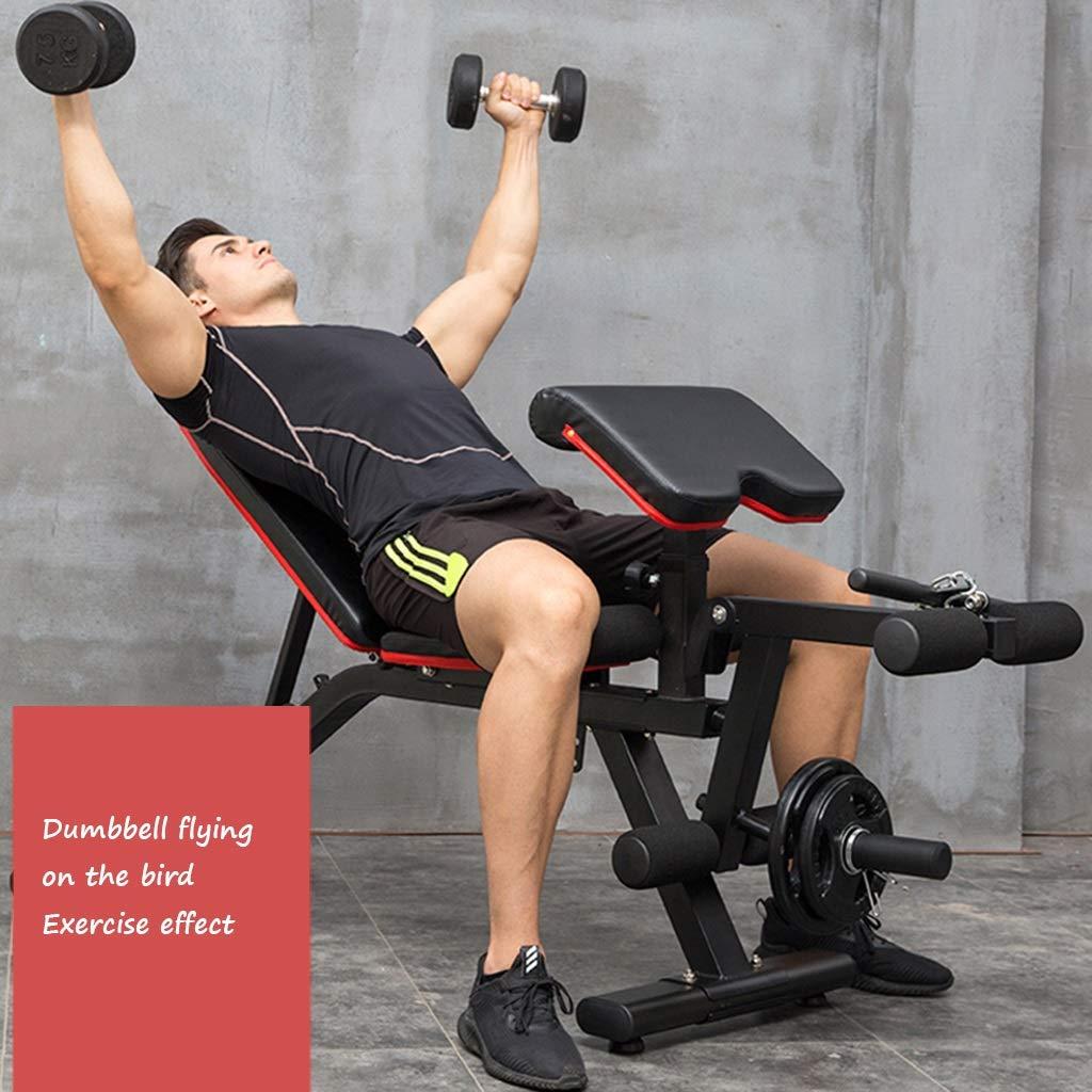 Bancos ajustables Gimnasio con mancuernas banco de casa silla de fitness equipo de entrenamiento profesional supino profesional press de banca silla de ...