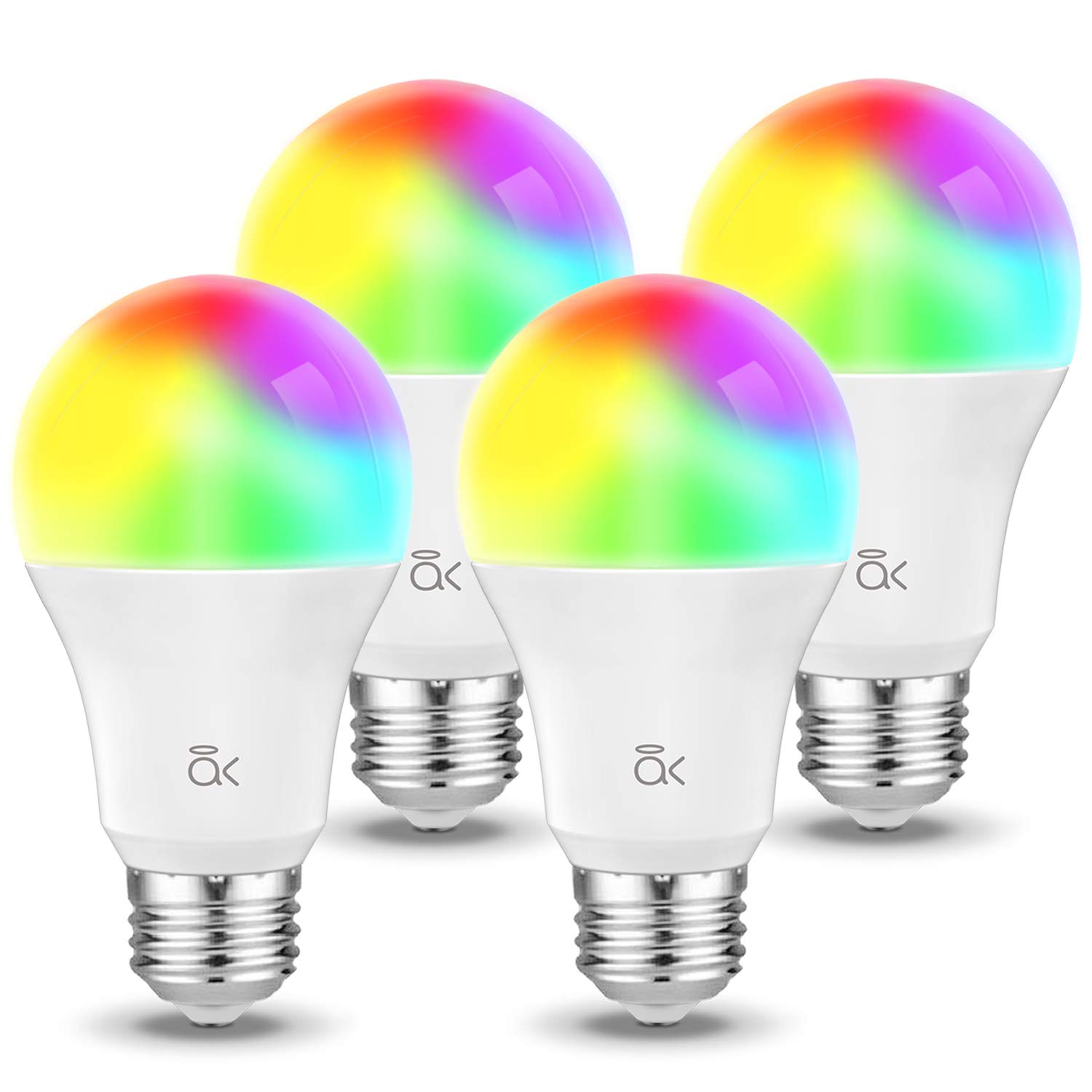 Smart Bulb, AL Above Lights Dimmable E26 9W Wi-Fi LED Light Bulb, Soft White (2700K), 60W Equivalent, 810 LM, RGB+W, Works with Amazon Alexa, Echo, Google Assistant and IFTTT, ETL Listed - 4 Packs
