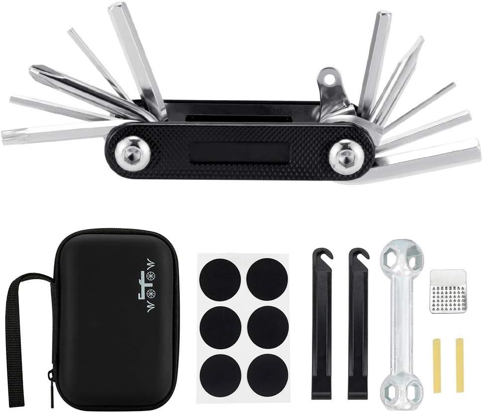 Bicycle Tool Kit Set Motorcycle Portable 16 In 1 Cycling Multifunctional Repair