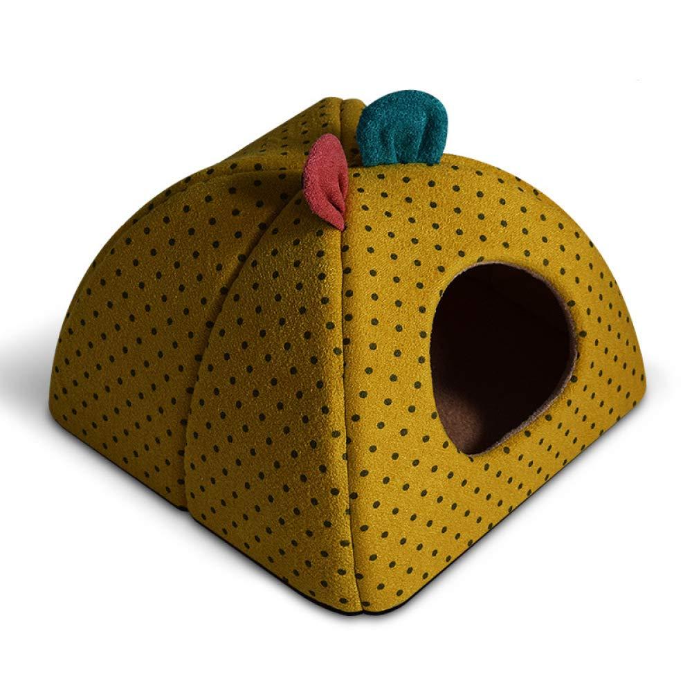 C Large C Large QJKai Kennel Simple pet cat House yurt Winter Warm Plus Velvet Thickening