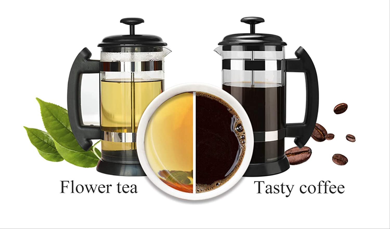 Coffee//Tea Brewer Coffee Pot 600ml Stainless Steel Glass