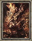"The Fall of the Damned by Peter Paul Rubens - 21"" x 26"" Framed Canvas Art Print - Ready to Hang"