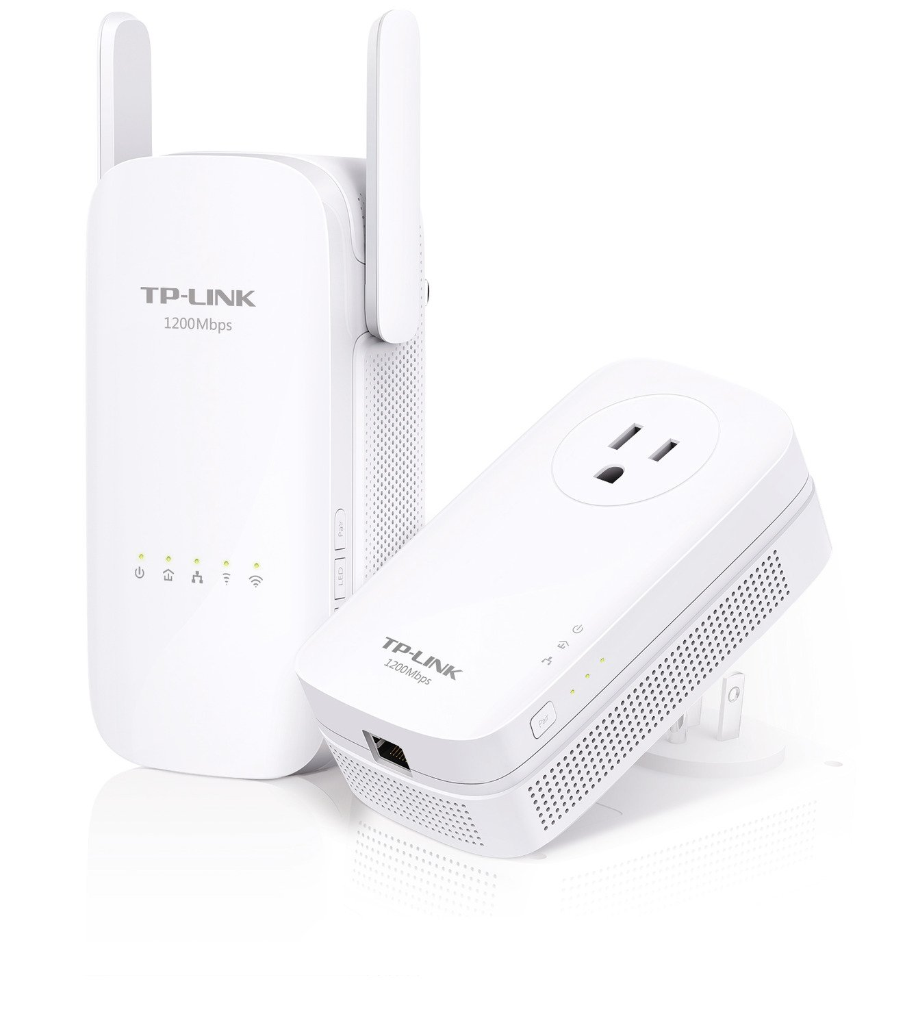 TP-Link AC1200 Wi-Fi Range Extender, AV1200 Powerline Edition, Extra Outlet (TL-WPA8630 KIT) by TP-Link