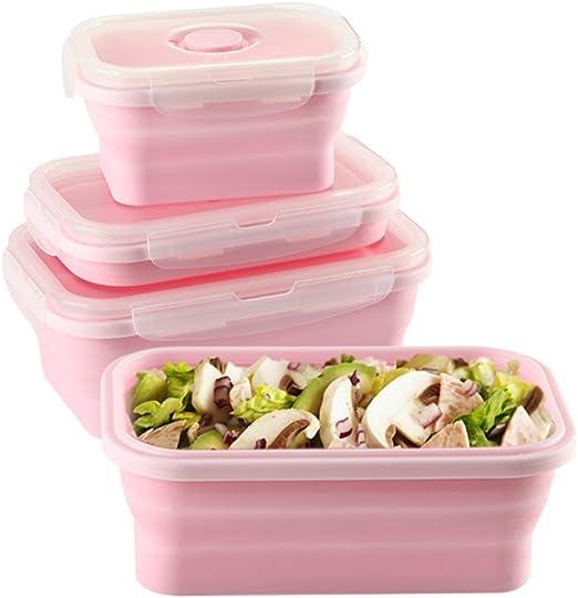 lavavajillas y congelador Plegable microondas ToBe-U Apta para el hogar bento para Cocina Fiambrera de Silicona Picnic port/átil