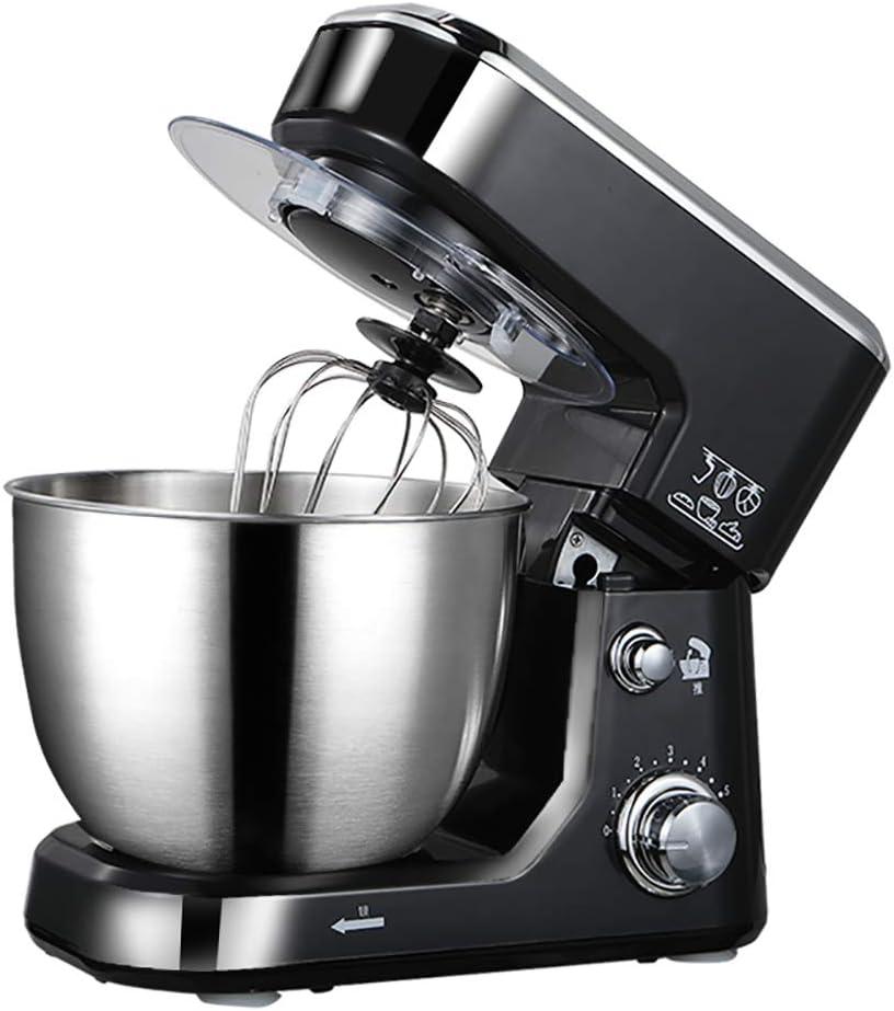 4 litros amasadora doméstica totalmente automática pequeña batidora multifunción amasadora agitar máquina para chef batidora de huevos, negro: Amazon.es: Hogar
