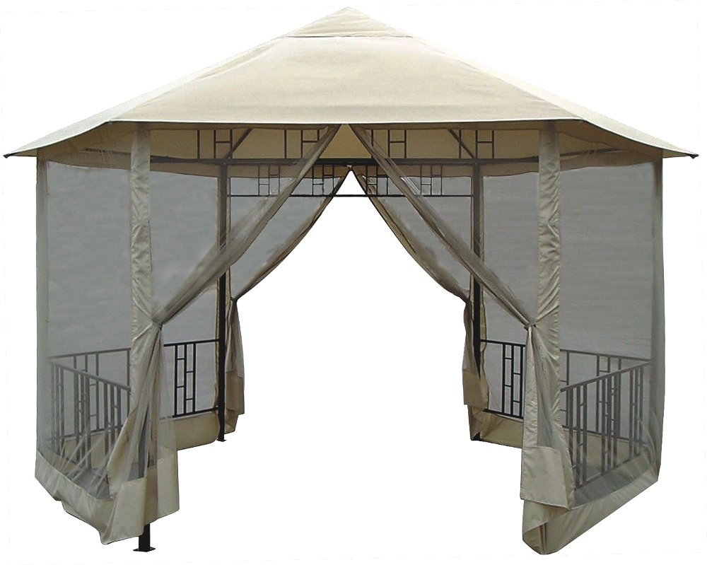Amazon DC America GO31805BL BB Hexagon Gazebo With Insect Screen Frame And Canopy Garden Outdoor