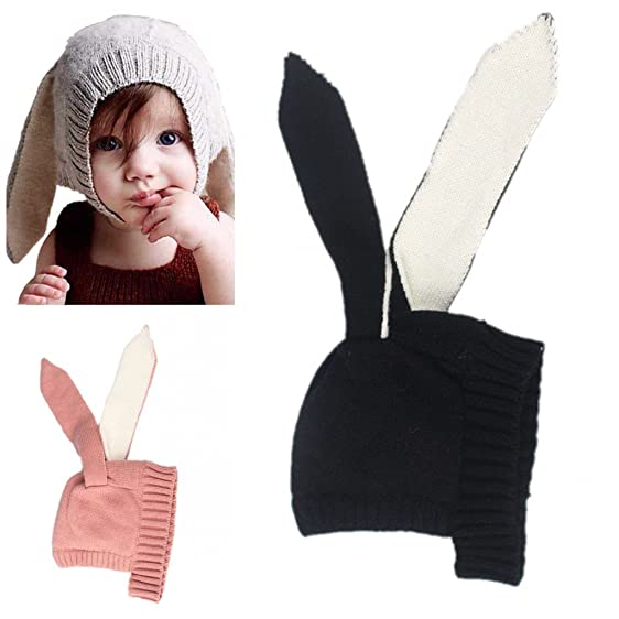 Amazon Elinka Winter Warm Knit Hats Caps Rabbit Design Wool