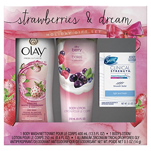Olay Strawberries and Dreams Holiday Gift Set