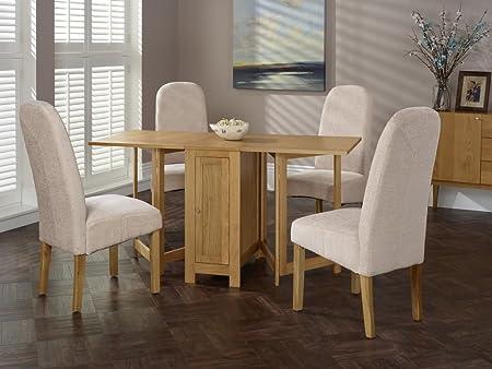Enjoyable Hounslow Oak Butterfly Leaf Extendable Table 4 Marlow Bark Interior Design Ideas Clesiryabchikinfo