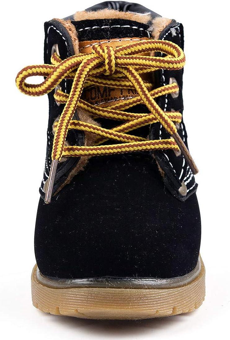 Señoras Color Cereza partes superiores de Cuero Con Cordones Caminar//Senderismo Botas De Invierno Talla 6