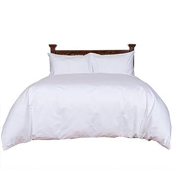 Homescapes Luxus Baumwoll Satin Bettwäsche 260x220 Cm 3 Tlg Weiß