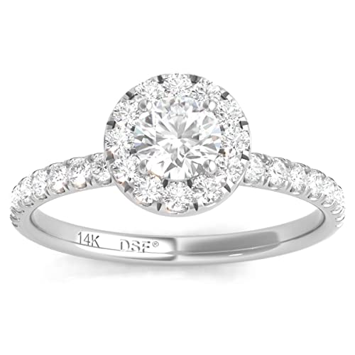 Diamond Studs Forever - Anillo compromiso halo diamantes ...