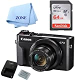 Canon G7X Mark II Digital Camera - Wi-Fi & NFC Enabled (Black) with Free 64GB SDHC Card