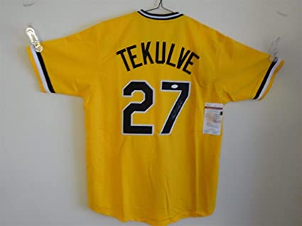 buy online 179dd a94d8 KENT TEKULVE SIGNED AUTO PITTSBURGH PIRATES YELLOW JERSEY ...