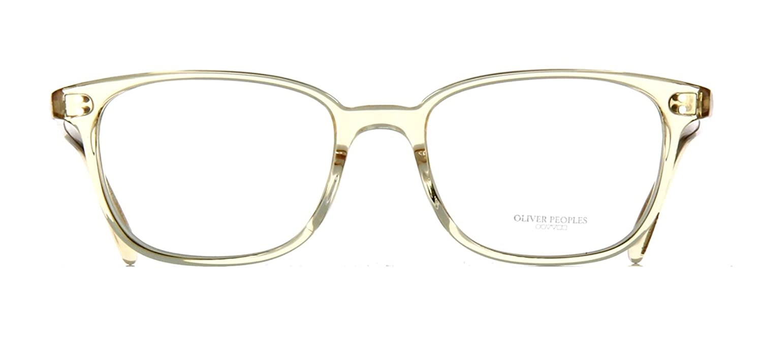 b0d00d8263 Amazon.com  Oliver Peoples Rx Eyeglasses Frames Maslon 5279U 1094 53x18  Light Clear Yellow  Clothing