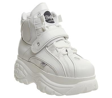 fd2558a774ea9 Buffalo Womens Classics 2.0 Leather Blanco Boots 6.5 US