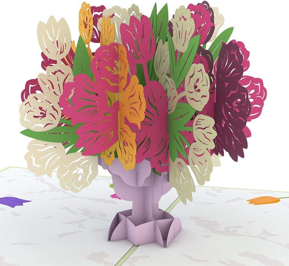 3D Tulip Pop Up Greeting Card