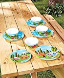 12-Pc.Happy Camper Dinnerware Set For Sale